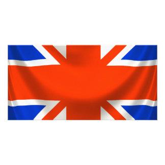 square english flag custom photo card