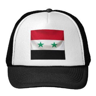 Square flag of Syria, ceremonial draped Cap