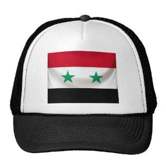 Square flag or Syria, ceremonial draped Cap