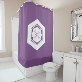 Square flower with Swords in tortoiseshell Shower Curtain