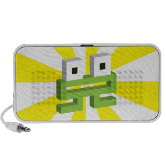 Square frog notebook speakers