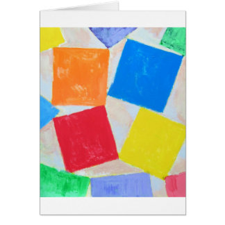 Square Gathering ( geometric expressionism ) Greeting Card