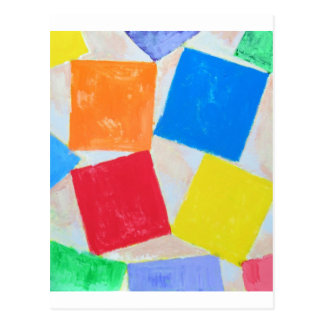 Square Gathering ( geometric expressionism ) Postcard