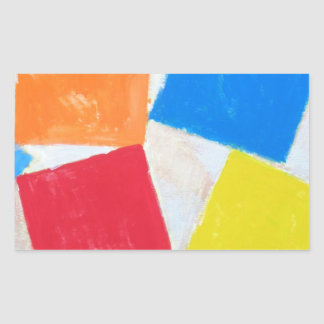 Square Gathering ( geometric expressionism ) Rectangular Sticker
