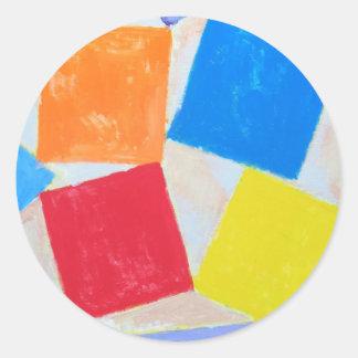 Square Gathering ( geometric expressionism ) Sticker