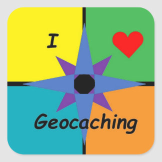 Square Geocaching sticker