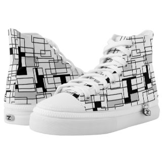 square geometrics high top sneakers