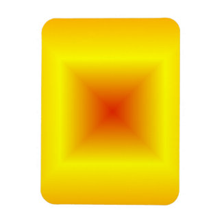 Square Gradient - Orange, Yellow, Red Rectangle Magnets