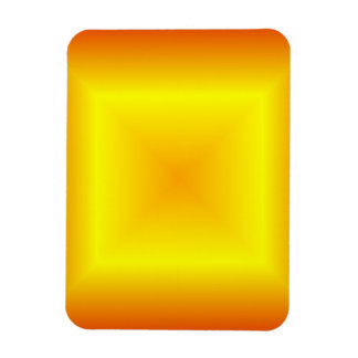 Square Gradient - Red, Yellow, Orange Rectangle Magnets
