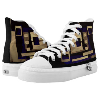 Square Graphic Sneakers Shoes Footwear II