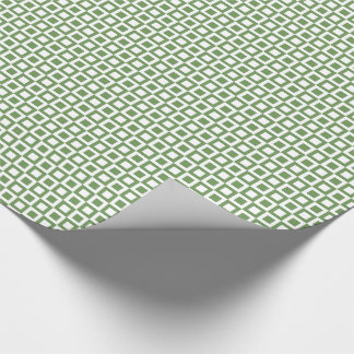 Square Green Squares Wrapping Paper