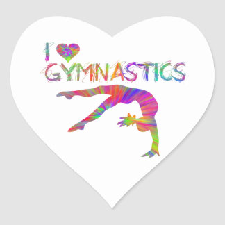 Square heart Gymnastics Dance Cheer Stickers
