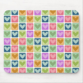 Square Hearts Valentine's Day Mousepads