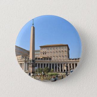 Square in Rome, Italy 6 Cm Round Badge