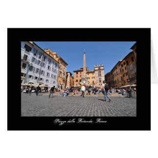 Square in Rome, Italy Card