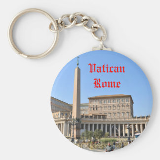Square in Rome, Italy Key Ring