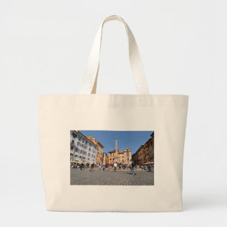 Square in Rome, Italy Large Tote Bag