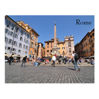 Square in Rome, Italy Postcard