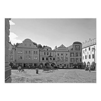 Square in the city of Cesky Krumlov. Photo Print
