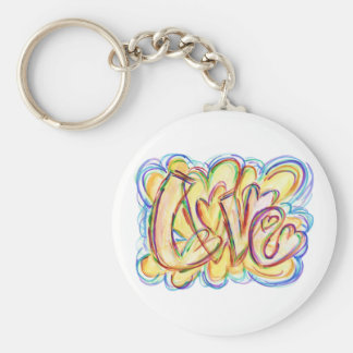 Square Inspirational Word Heal Art Keychain
