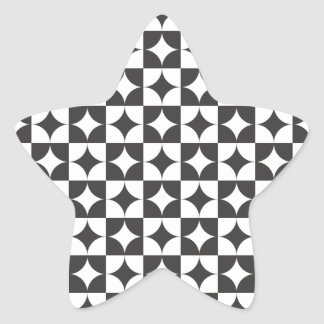 square intersecting circle star sticker