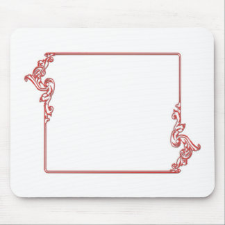 Square Jewel Frame Border : Add text, IMG Mouse Pad