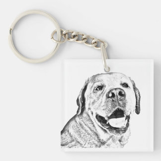 Square Key Chain - Labrador Retriever