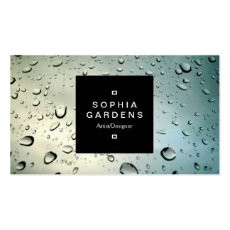 Square Label 01a - Rain on my Window Pack Of Standard Business Cards