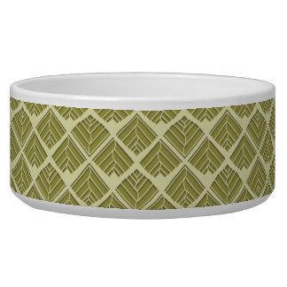 Square Leaf Pattern Gold Lime Light
