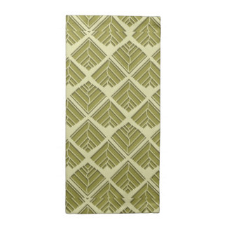 Square Leaf Pattern Gold Lime Light Napkin
