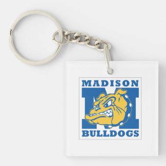 Square Madison Bulldogs Keychain