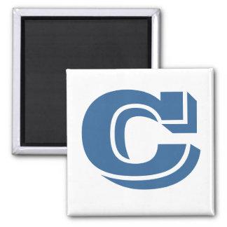 Square Magnet - Letter C