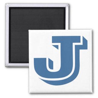 Square Magnet - Letter J