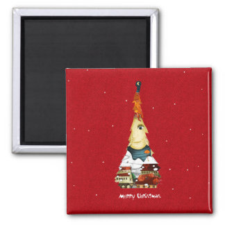 Square Magnet Merry Christmas