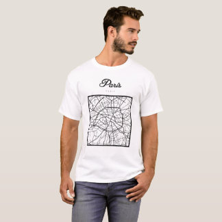 Square Map Of Paris T-Shirt