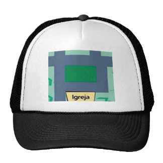 square map of the street of the church mesh hats