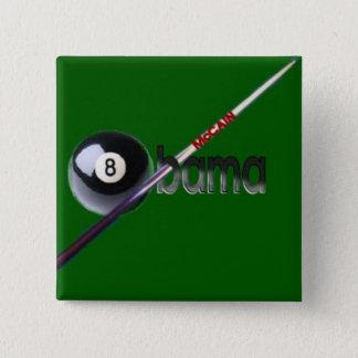 Square McCain/Obama Eight Ball Button