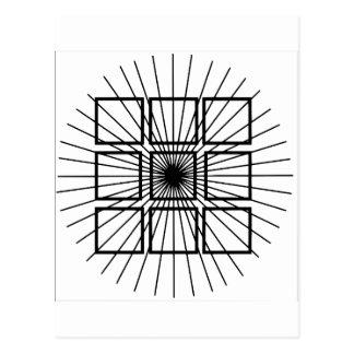 Square Optical Illusion Postcard