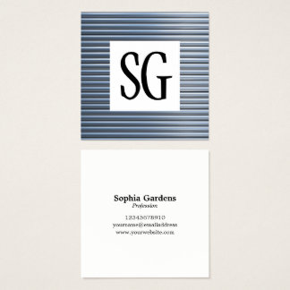 Square Panel - Initials - Metallic Pipes Square Business Card