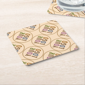 Square Paper Coaster Custom Logo Promotional Bulk