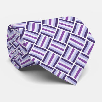 Square Pattern - Blue Violet White Tie