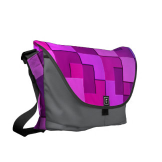 Square Pattern Courier Bag