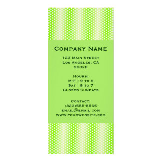 square pattern green customized rack card