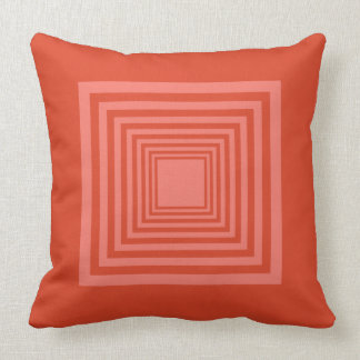 Square Pattern in Orange and Rose Cushion
