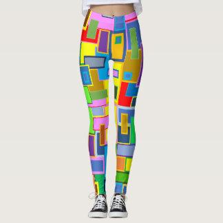 square pattern leggings