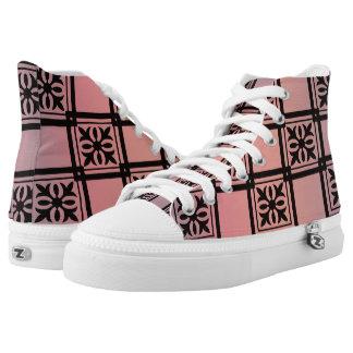 Square Pattern Ludi Barrs Original Design Printed Shoes