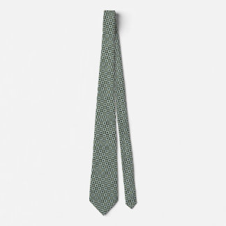Square Pattern Necktie in Blue-Green