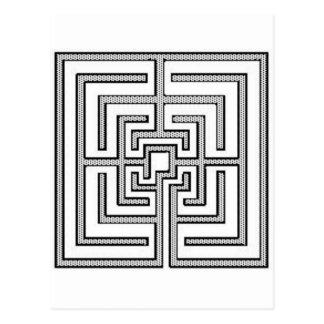 Square Pattern Postcard
