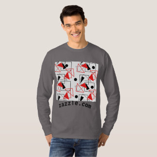 square patterns with red and black color. T-Shirt