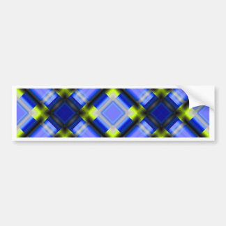 square patternserie 1 blue bumper sticker
